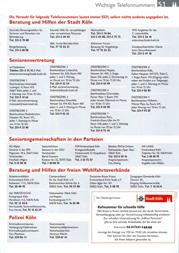 Adressen für Senioren in Köln