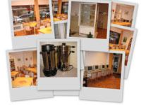 Fotos mit der Caféeinrichtung ...