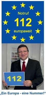 Notruf 112 europaweit!